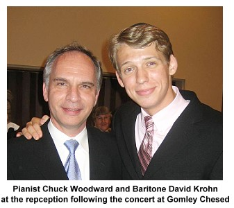 Pianist Chuck Woodward and Baritone David Krohn